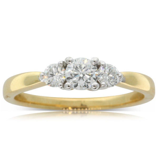 18ct White & Yellow Gold .30ct Diamond Elysian Ring