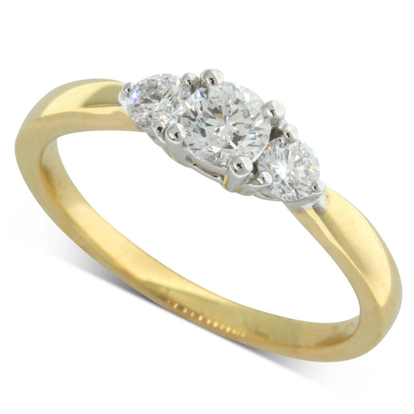 18ct Yellow & White Gold .30ct Diamond Elysian Ring