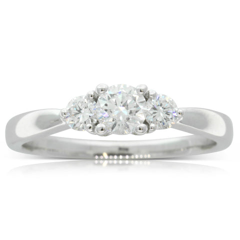 18ct White Gold .30ct Diamond Elysian Ring - Walker & Hall