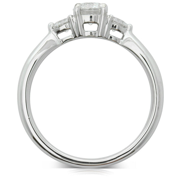 18ct White Gold .50ct Diamond Elysian Ring - Walker & Hall