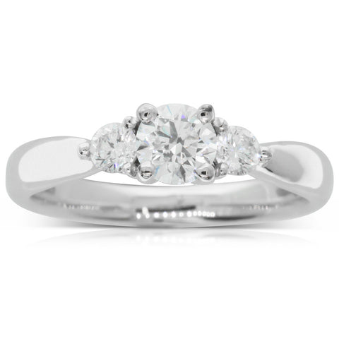 18ct White Gold .51ct Diamond Elysian Ring - Walker & Hall