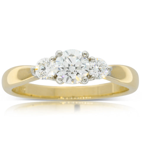 18ct Yellow Gold .46ct Diamond Elysian Ring - Walker & Hall