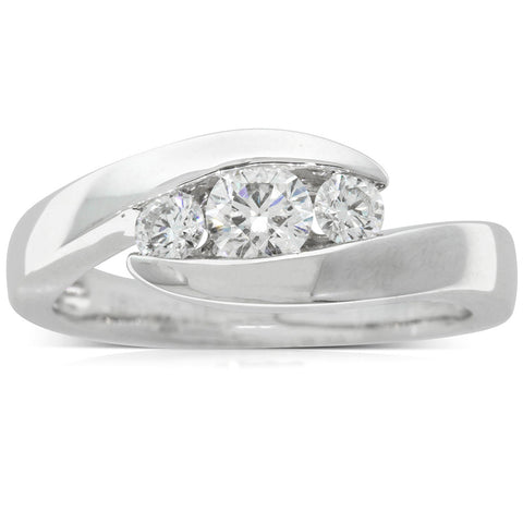18ct White Gold .30ct Diamond Equinox Ring - Walker & Hall