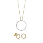 Gift Set - 9ct Yellow Gold & Diamond Forevermore Pendant & Earrings - Walker & Hall