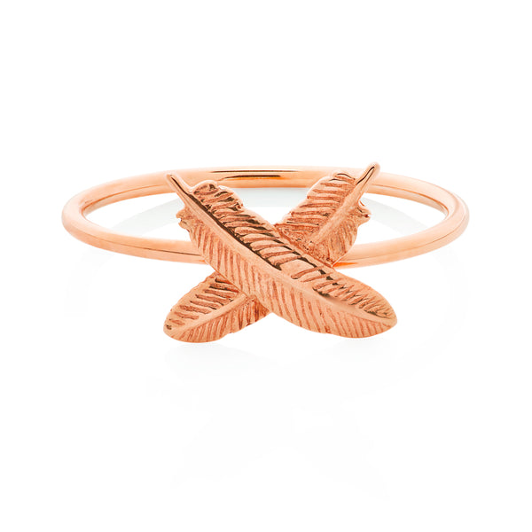 Boh Runga Feather Kisses Ring - Rose Gold - Walker & Hall