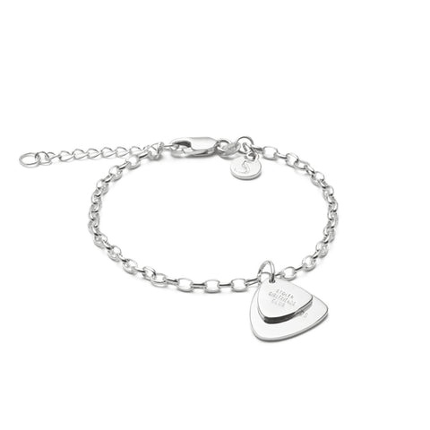 Stolen Girlfriends Club Guitar Pic Bracelet - Sterling Silver - Walker & Hall