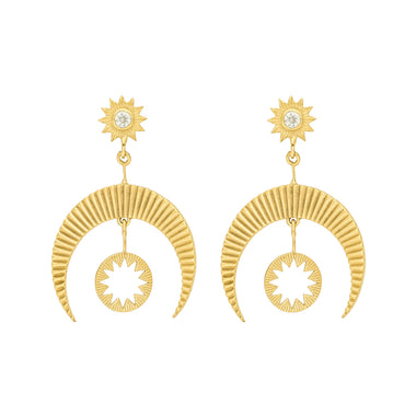 6c1994aa2 Zoe & Morgan Zircon Hatha Earrings - Gold Plated