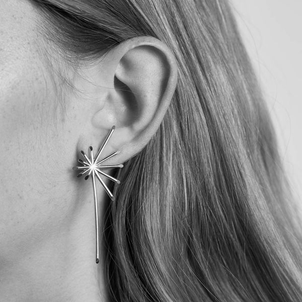 Meadowlark Petal Burst Earrings - Sterling Silver