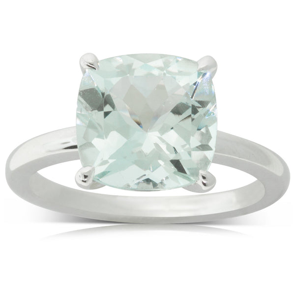 18ct White Gold 3.83ct Aquamarine Honey Ring - Walker & Hall