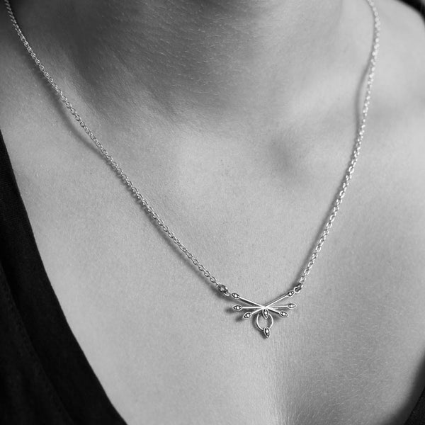 Meadowlark Petal Necklace - Sterling Silver - Walker & Hall