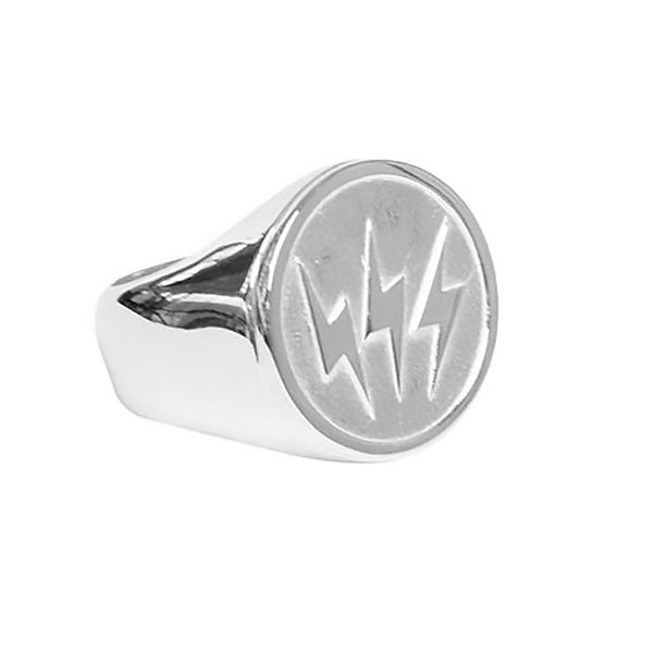 Stolen Girlfriends Club Triple Bolt Sovereign Ring - Sterling Silver