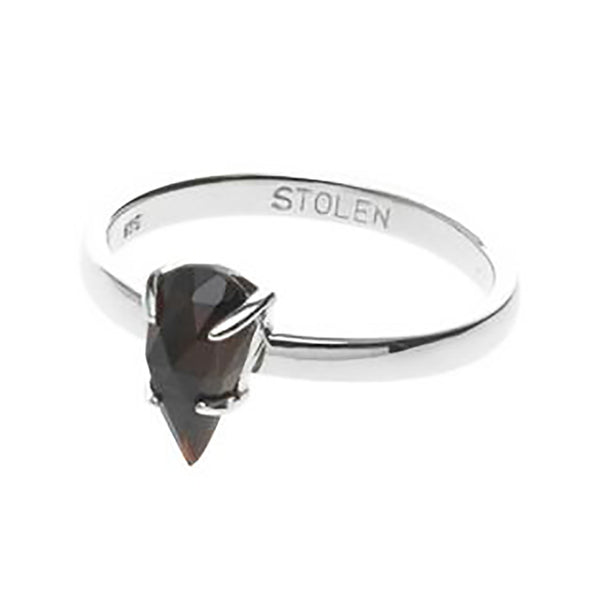 Stolen Girlfriends Club Single Tear Ring - Garnet