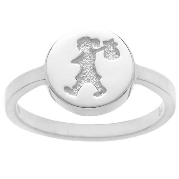 Karen Walker Runaway Stamp Ring - Sterling Silver - Walker & Hall