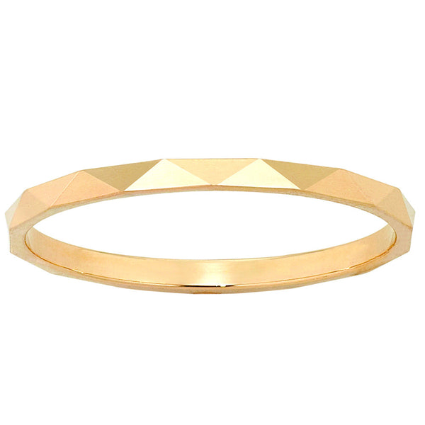 Karen Walker Velocity 1.5mm Band - Yellow Gold