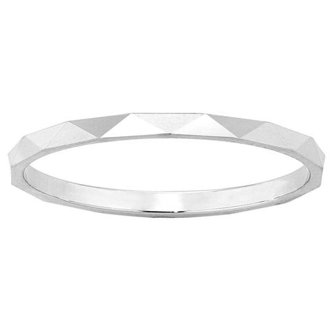 Karen Walker Velocity 1.5mm Band - 9ct White Gold - Walker & Hall