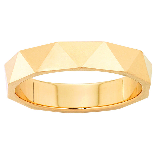 Karen Walker Velocity 4mm Band - Yellow Gold - Walker & Hall