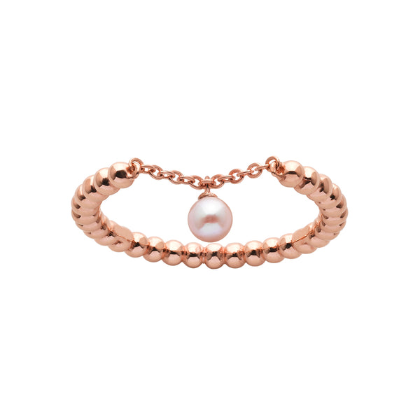 Karen Walker Vermeer Pearl Ring - 9ct Rose Gold - Walker & Hall