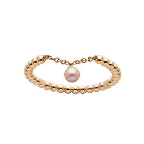 Karen Walker Vermeer Pearl Ring - 9ct Yellow Gold - Walker & Hall