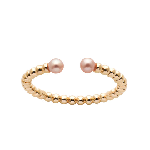 Karen Walker Split Wisdom Pearl Ring - 9ct Yellow Gold - Walker & Hall