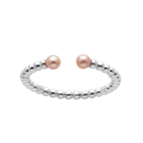 Karen Walker Split Wisdom Pearl Ring - Sterling Silver - Walker & Hall