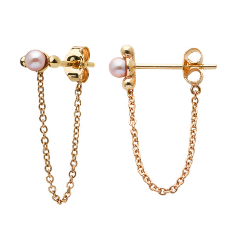 Karen Walker Vermeer Pearl Earrings - 9ct Yellow Gold - Walker & Hall