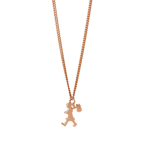 Karen Walker Mini Runaway Girl Necklace - 9ct Rose Gold - Walker & Hall