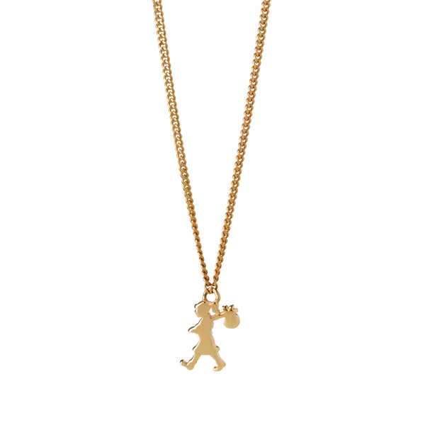 Karen Walker Mini Runaway Girl Necklace - 9ct Yellow Gold - Walker & Hall