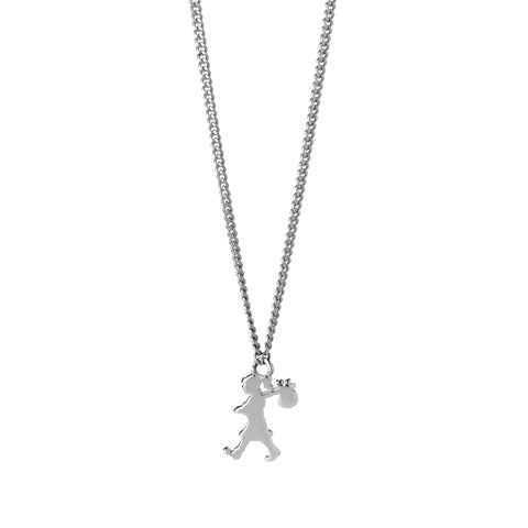 Karen Walker Mini Runaway Girl Necklace - Sterling Silver - Walker & Hall