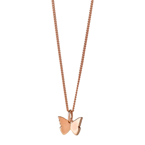 Karen Walker Mini Butterfly Necklace - 9ct Rose Gold - Walker & Hall