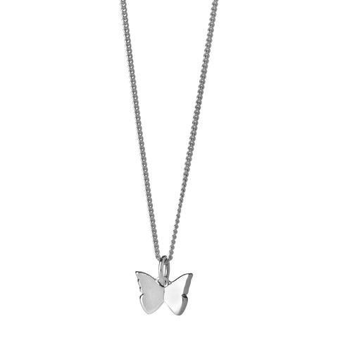 Karen Walker Mini Butterfly Necklace - Sterling Silver - Walker & Hall