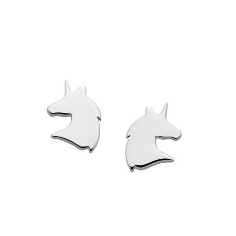 Karen Walker Mini Unicorn Earrings - Sterling Silver - Walker & Hall