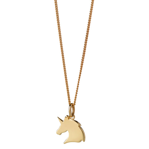Karen Walker Mini Unicorn Necklace - 9ct Yellow Gold - Walker & Hall