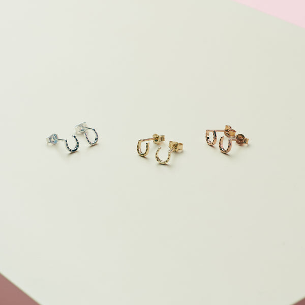 Karen Walker Mini Horseshoe Earrings - Sterling Silver - Walker & Hall