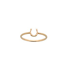 Karen Walker Mini Horseshoe Ring - 9ct Yellow Gold - Walker & Hall