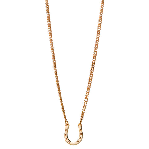 Karen Walker Mini Horseshoe Necklace - 9ct Yellow Gold - Walker & Hall