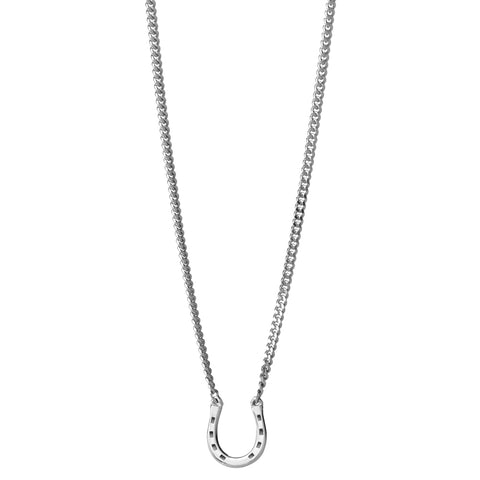 Karen Walker Mini Horseshoe Necklace - Sterling Silver - Walker & Hall