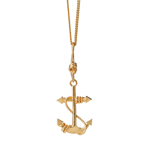 Karen Walker Anchor Necklace - 9ct Yellow Gold - Walker & Hall