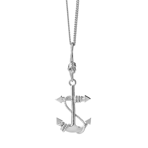 Karen Walker Anchor Necklace - Sterling Silver - Walker & Hall