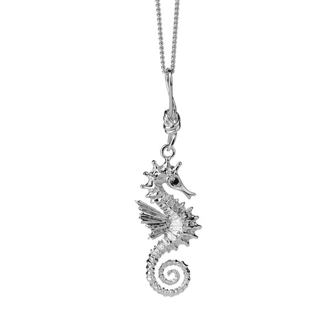 Karen Walker Seahorse Necklace - Sterling Silver - Walker & Hall