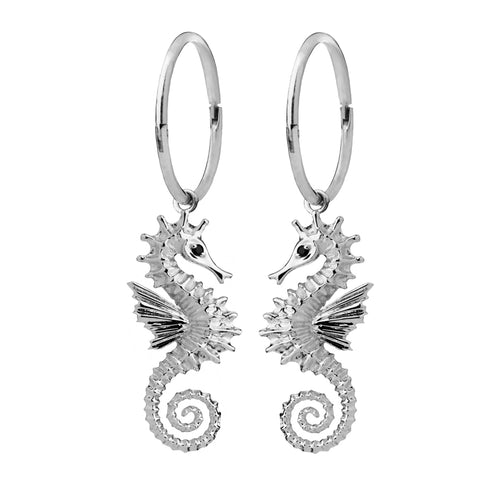 Karen Walker Seahorse Sleepers - Sterling Silver - Walker & Hall