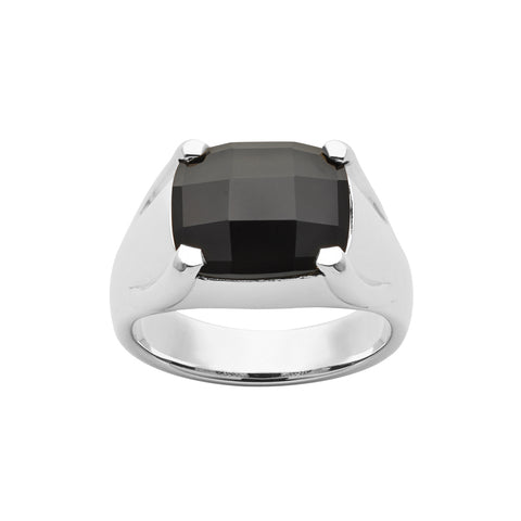 Karen Walker Onyx Chequerboard Cocktail Ring - Sterling Silver - Walker & Hall