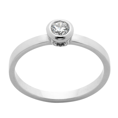 4ccc38f5ad4 Karen Walker Diamond Solitaire Ring - 9ct White gold -  2