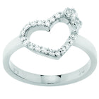 Karen Walker Diamond Heart Ring - White Gold - Walker & Hall