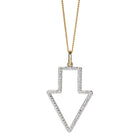 Karen Walker Runaway Arrow Pendant Diamond - Yellow Gold - Walker & Hall