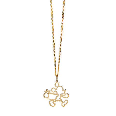07b43692c8b ... Karen Walker Runaway Mickey Outline Pendant - 9ct Yellow Gold -   1