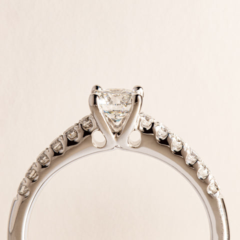 18ct White Gold .50ct Diamond Meridien Ring - Walker & Hall