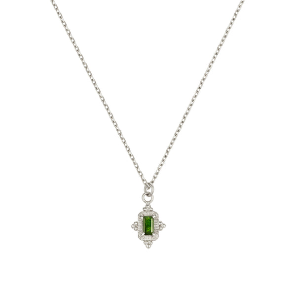 PRE-ORDER Zoe & Morgan Marina Necklace - Sterling Silver & Chrome Diopside - Walker & Hall