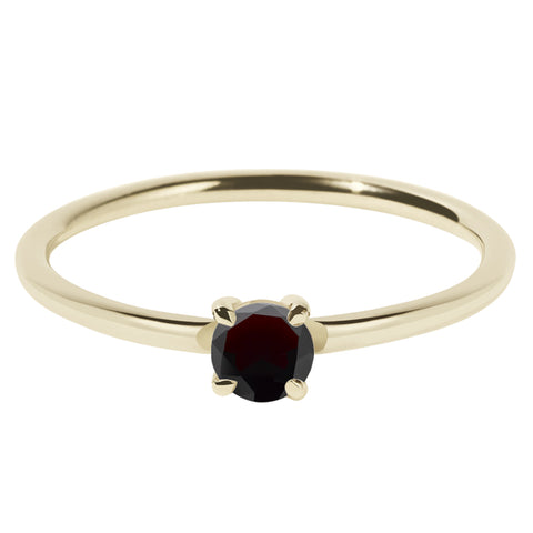 Meadowlark Micro Round Ring - Thai Garnet - Walker & Hall