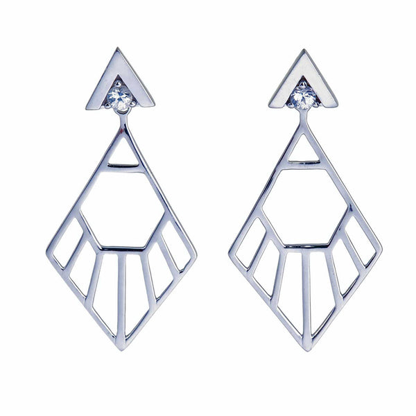 Zoe & Morgan Mini Flossie Ear Jackets - Sterling Silver