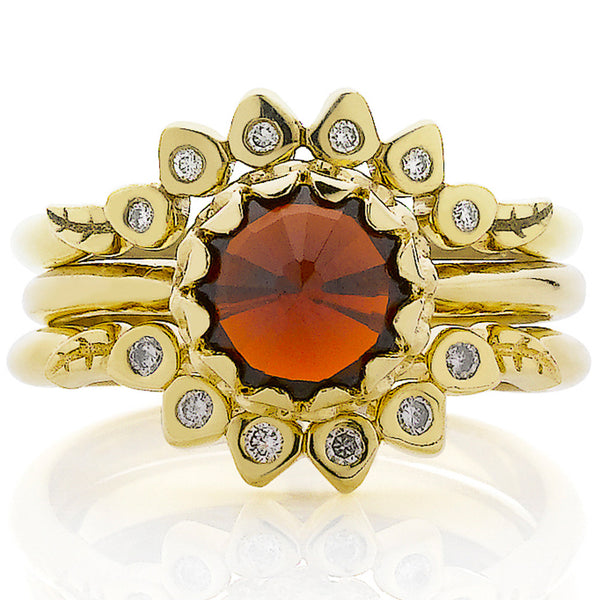 Meadowlark Mini Protea Ring - 9ct Yellow Gold